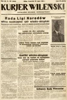 Kurjer Wileński : niezależny dziennik demokratyczny. 1935, nr201