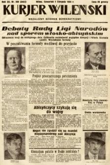 Kurjer Wileński : niezależny dziennik demokratyczny. 1935, nr208