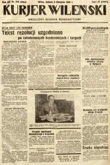 Kurjer Wileński : niezależny dziennik demokratyczny. 1935, nr210
