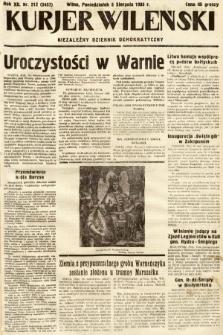 Kurjer Wileński : niezależny dziennik demokratyczny. 1935, nr212