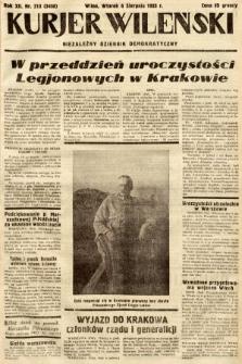 Kurjer Wileński : niezależny dziennik demokratyczny. 1935, nr213