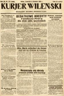 Kurjer Wileński : niezależny dziennik demokratyczny. 1935, nr215