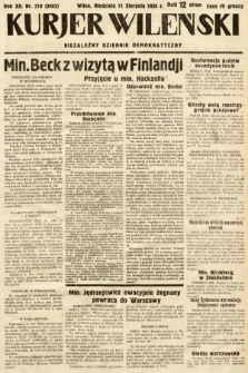 Kurjer Wileński : niezależny dziennik demokratyczny. 1935, nr218
