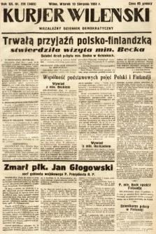 Kurjer Wileński : niezależny dziennik demokratyczny. 1935, nr220