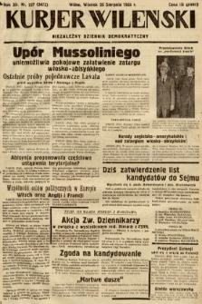 Kurjer Wileński : niezależny dziennik demokratyczny. 1935, nr227