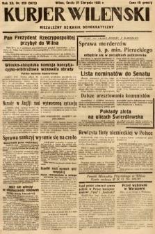 Kurjer Wileński : niezależny dziennik demokratyczny. 1935, nr228