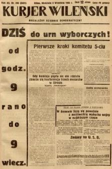 Kurjer Wileński : niezależny dziennik demokratyczny. 1935, nr246