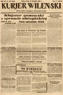 Kurjer Wileński : niezależny dziennik demokratyczny. 1935, nr249