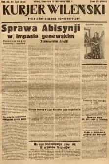 Kurjer Wileński : niezależny dziennik demokratyczny. 1935, nr250