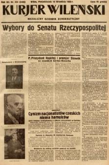 Kurjer Wileński : niezależny dziennik demokratyczny. 1935, nr254