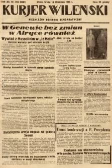 Kurjer Wileński : niezależny dziennik demokratyczny. 1935, nr256