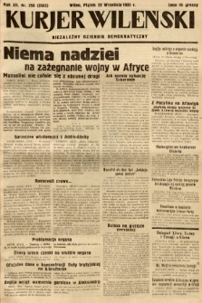 Kurjer Wileński : niezależny dziennik demokratyczny. 1935, nr258