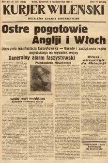Kurjer Wileński : niezależny dziennik demokratyczny. 1935, nr271