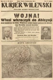 Kurjer Wileński : niezależny dziennik demokratyczny. 1935, nr272