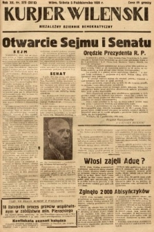 Kurjer Wileński : niezależny dziennik demokratyczny. 1935, nr273