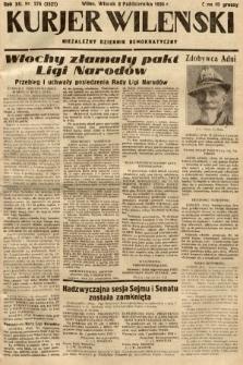 Kurjer Wileński : niezależny dziennik demokratyczny. 1935, nr276