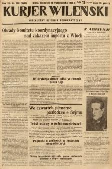 Kurjer Wileński : niezależny dziennik demokratyczny. 1935, nr288
