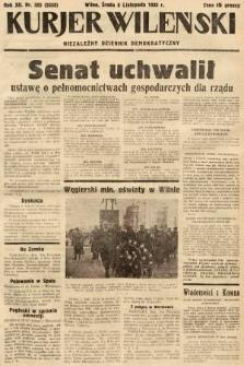 Kurjer Wileński : niezależny dziennik demokratyczny. 1935, nr305