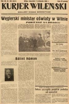 Kurjer Wileński : niezależny dziennik demokratyczny. 1935, nr306