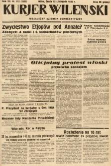 Kurjer Wileński : niezależny dziennik demokratyczny. 1935, nr312