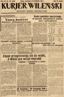 Kurjer Wileński : niezależny dziennik demokratyczny. 1935, nr313
