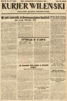 Kurjer Wileński : niezależny dziennik demokratyczny. 1935, nr317