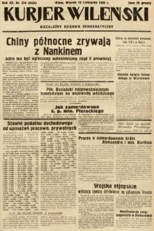 Kurjer Wileński : niezależny dziennik demokratyczny. 1935, nr318