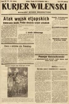 Kurjer Wileński : niezależny dziennik demokratyczny. 1935, nr319