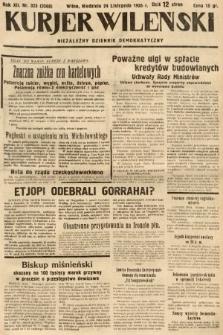 Kurjer Wileński : niezależny dziennik demokratyczny. 1935, nr323