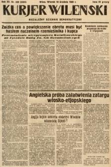 Kurjer Wileński : niezależny dziennik demokratyczny. 1935, nr339