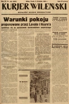 Kurjer Wileński : niezależny dziennik demokratyczny. 1935, nr340