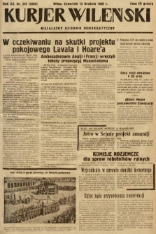 Kurjer Wileński : niezależny dziennik demokratyczny. 1935, nr341