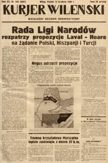 Kurjer Wileński : niezależny dziennik demokratyczny. 1935, nr342