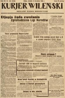 Kurjer Wileński : niezależny dziennik demokratyczny. 1935, nr343