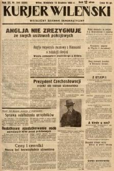Kurjer Wileński : niezależny dziennik demokratyczny. 1935, nr344
