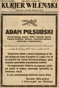 Kurjer Wileński : niezależny dziennik demokratyczny. 1935, nr346