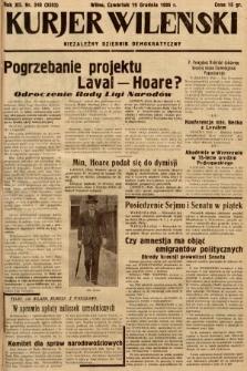 Kurjer Wileński : niezależny dziennik demokratyczny. 1935, nr348