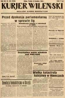 Kurjer Wileński : niezależny dziennik demokratyczny. 1935, nr354