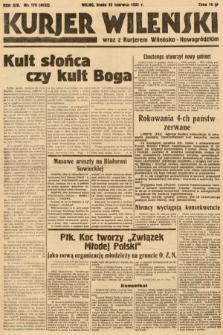 Kurjer Wileński wraz z Kurjerem Wileńsko-Nowogródzkim. 1937, nr170