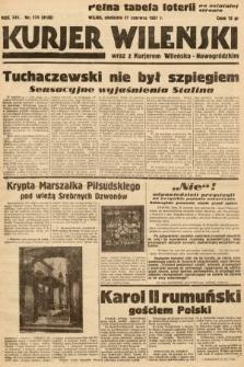 Kurjer Wileński wraz z Kurjerem Wileńsko-Nowogródzkim. 1937, nr174