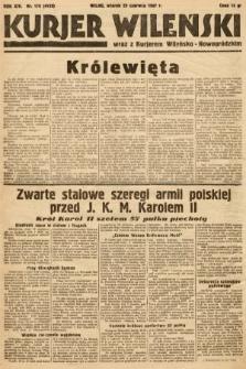 Kurjer Wileński wraz z Kurjerem Wileńsko-Nowogródzkim. 1937, nr176