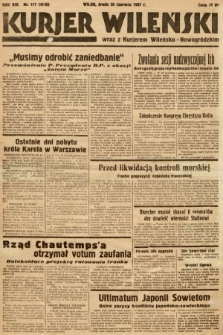 Kurjer Wileński wraz z Kurjerem Wileńsko-Nowogródzkim. 1937, nr177