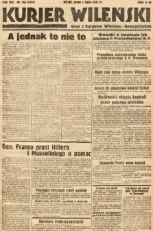 Kurjer Wileński wraz z Kurjerem Wileńsko-Nowogródzkim. 1937, nr184