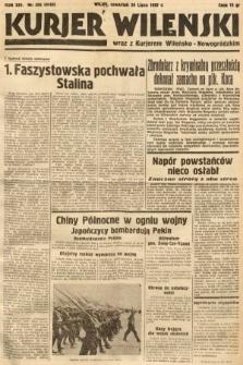 Kurjer Wileński wraz z Kurjerem Wileńsko-Nowogródzkim. 1937, nr206