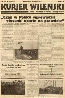 Kurjer Wileński wraz z Kurjerem Wileńsko-Nowogródzkim. 1937, nr218