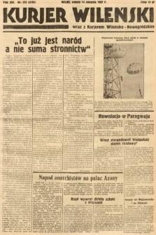 Kurjer Wileński wraz z Kurjerem Wileńsko-Nowogródzkim. 1937, nr222