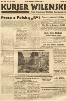 Kurjer Wileński wraz z Kurjerem Wileńsko-Nowogródzkim. 1937, nr243