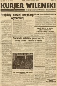 Kurjer Wileński wraz z Kurjerem Wileńsko-Nowogródzkim. 1937, nr249