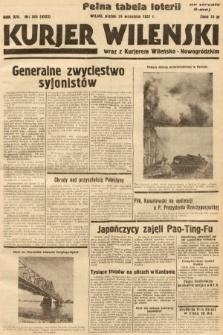 Kurjer Wileński wraz z Kurjerem Wileńsko-Nowogródzkim. 1937, nr263