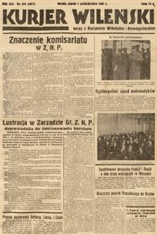 Kurjer Wileński wraz z Kurjerem Wileńsko-Nowogródzkim. 1937, nr270